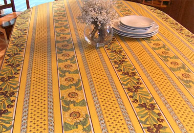 Marvelous Provencal Tablecloth With Sunflowers